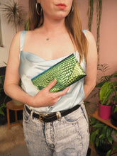 Mock Croc Envelope Purse with detachable strap