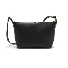 Black Leather Ring Bag