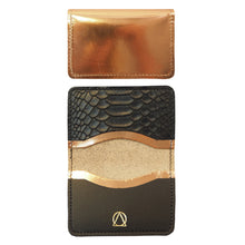 Metallic and Python Cardholder