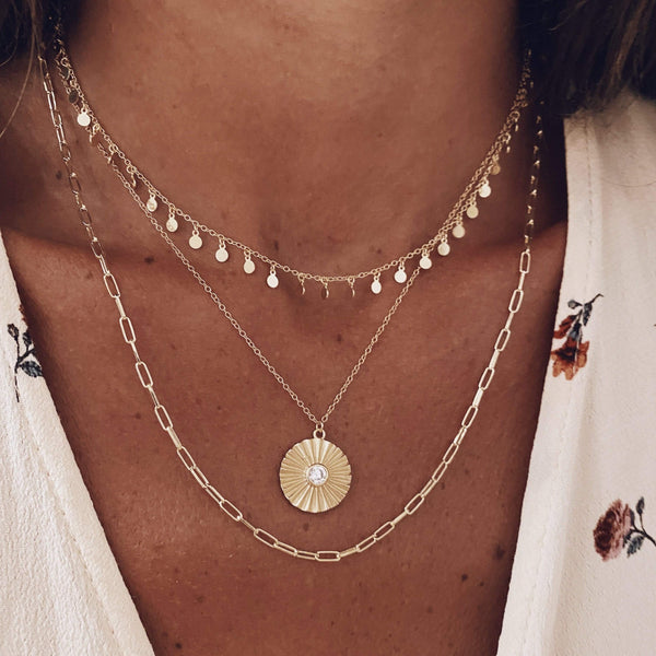 heylove COLLARES MINI MULTISUNS - ORO
