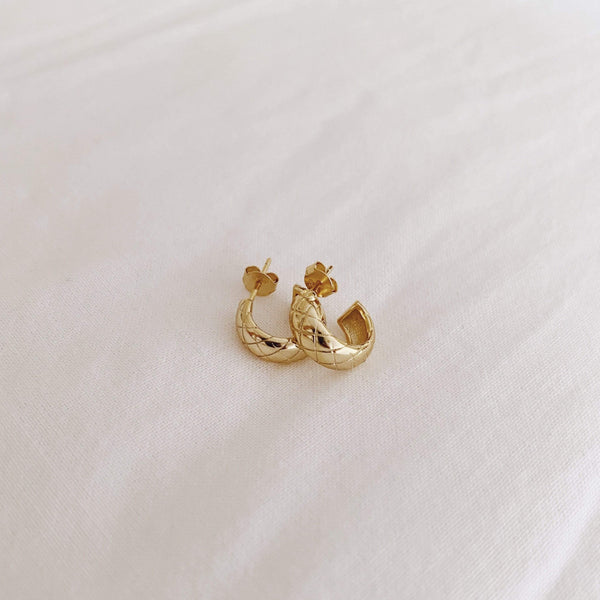heylove PENDIENTES CHESTER HOOPS - ORO