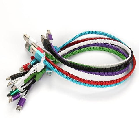 Zipper Charging USB Cable 50cm