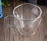 Lovely Heart Glass Tea Cup