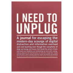 I need to unplug mini journal