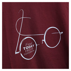 """Freud Today, Freud Tomorrow"" t-shirt, exclusive to Freud Museum, red"