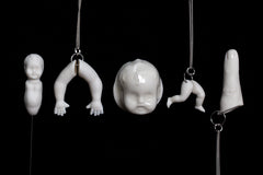 all porcelain jewellery by martha todd for freud museum uncanny exhibition