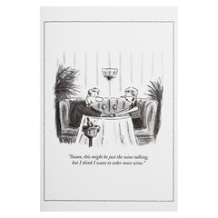 Wine Talking - The New Yorker (greeting card)