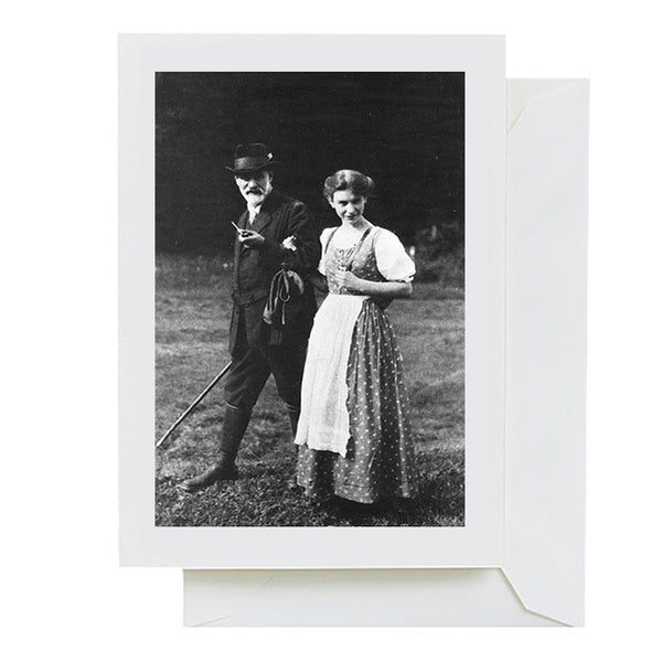 Sigmund and Anna Freud (greeting card)