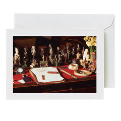 greeting card: Freud's desk
