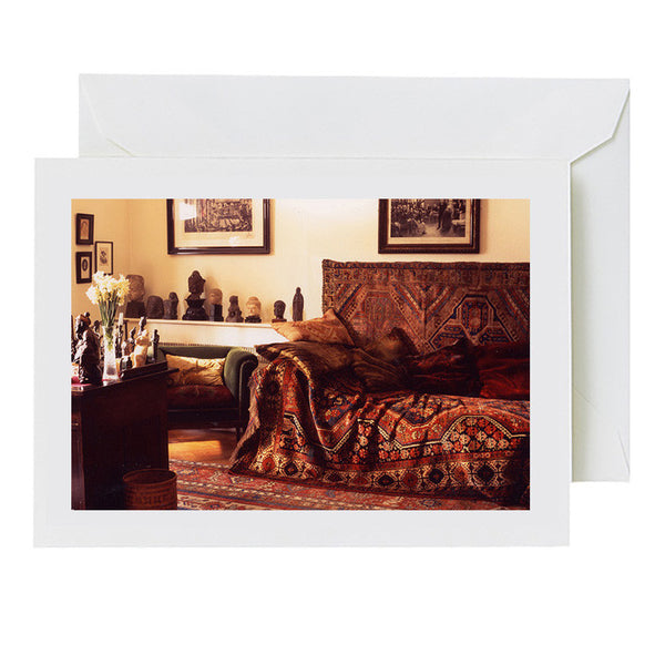 Freud's Study with Flowers (greeting card)