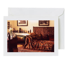 Greeting card: Freud's couch and study