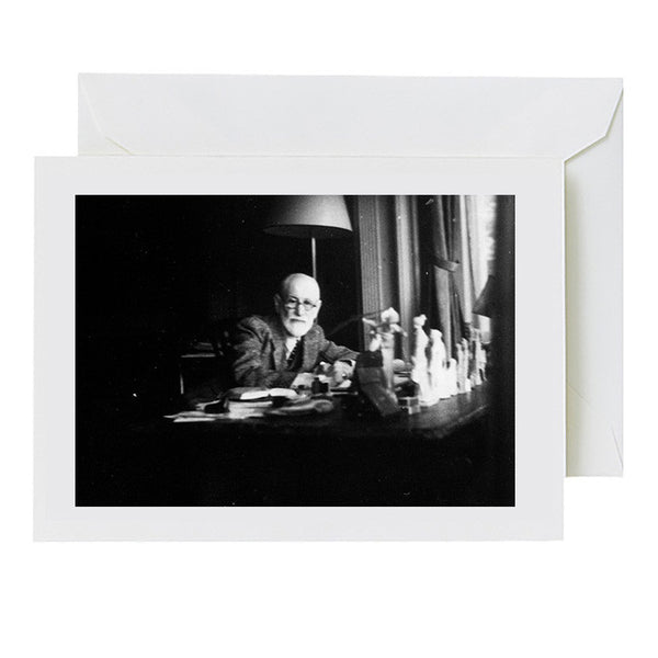 Freud in his Study (greeting card)