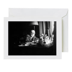 Sigmund Freud photo greeting card