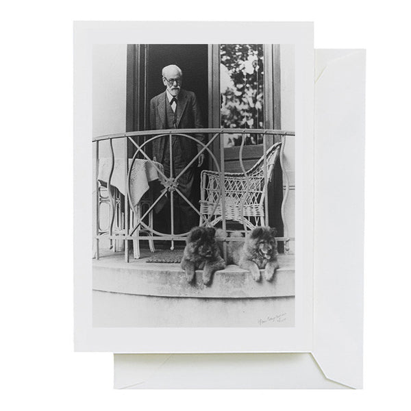 Freud with his Dogs (greeting card)