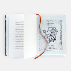 Succubations & Incubations - Antonin Artaud. Image of the artworks featured in the book, with a silk bookmark attached to the book.