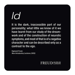 Id, Ego, Superego, Diagram coaster set; Id - Freud Museum London