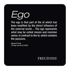 Id, Ego, Superego, Diagram coaster set; Ego - Freud Museum London