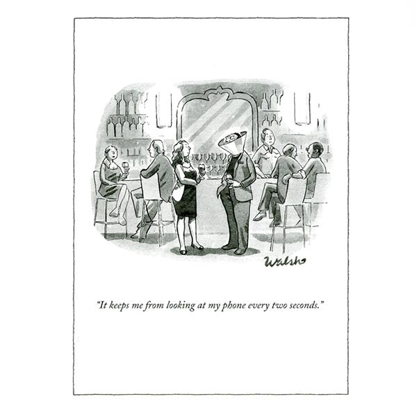Looking at my phone - The New Yorker (greeting card)