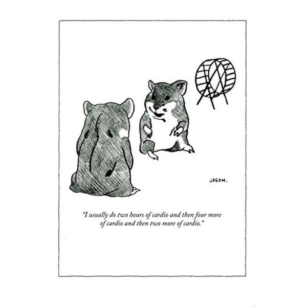 Cardio Hamster - New Yorker (greeting card)