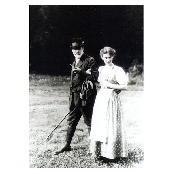 Sigmund and Anna Freud (postcard)