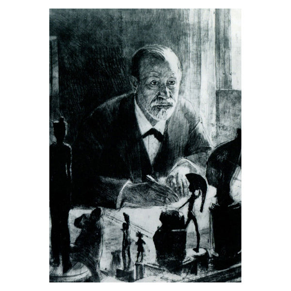 Etching of Freud (postcard)