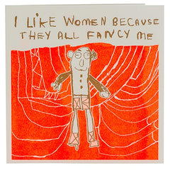 I Like Women - Peter Andrews (greeting card) arthouse unlimited