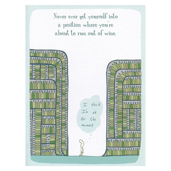 Out of Wine (greeting card)