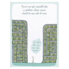 Harold's Planet Greeting Card: Out of wine