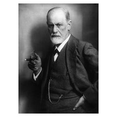 Print, Freud with cigar