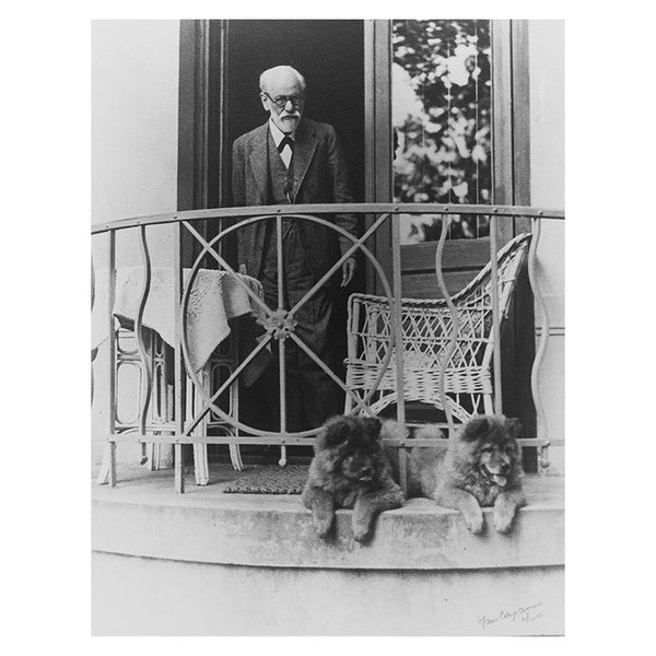 Freud with chows Fo and Tattoun (print)