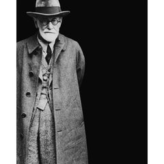 Sigmund Freud after his arrival in London (print)