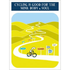 Cycling is Good for the Mind, Body and Soul Greeting Card