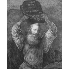 Moses with the Tablets print