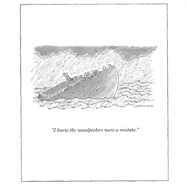 Noah's Ark - New Yorker (greeting card)