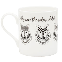 Why were the wolves white? A ceramic Wolf Man Mug. Freud Museum London.