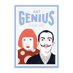 Yayoi Kasuma and Salvador Dalí on Art Genius Playing Cards