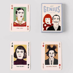Art Genius Playing Cards with Frida Kahlo, Joan Mitchell, Michel Basquiat, Salvador Dalí and Yayoi Kasuma
