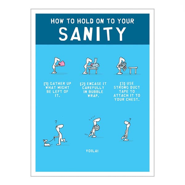 How to Hold on to Your Sanity (greeting card)