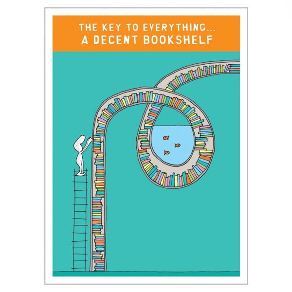 A Decent Bookshelf (greeting card)