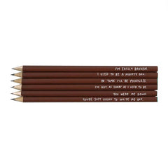Depressed Pencils. Such a sad little set of pencils.