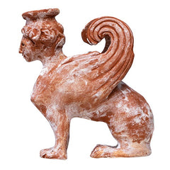 Replica of sigmund Freud's sphinx by artist Sun Ae Kim