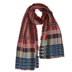 95% Wool Wrap Scarf - Red