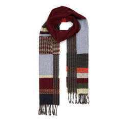 100% Merino Lambswool Scarf - Red