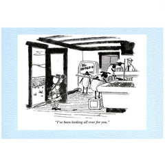"little bo peep and her sheep ""I've been looking all over for you"" Punch magazine greeting card"