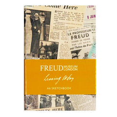 Leaving Today A6 Sketchpad, Sigmund Freud in Exile newspaper collage