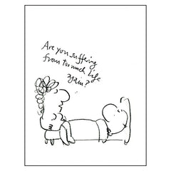 Too Much Life - Mel Calman (postcard)