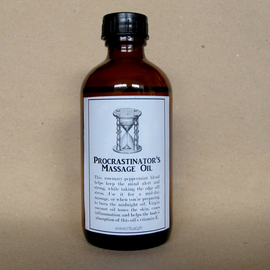 PROCRASTINATOR'S MASSAGE OIL