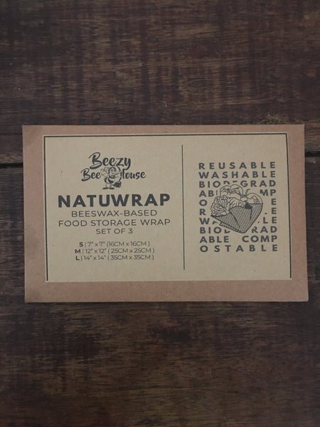 NATUWRAP BEESWAX WRAPS (SET OF 3)