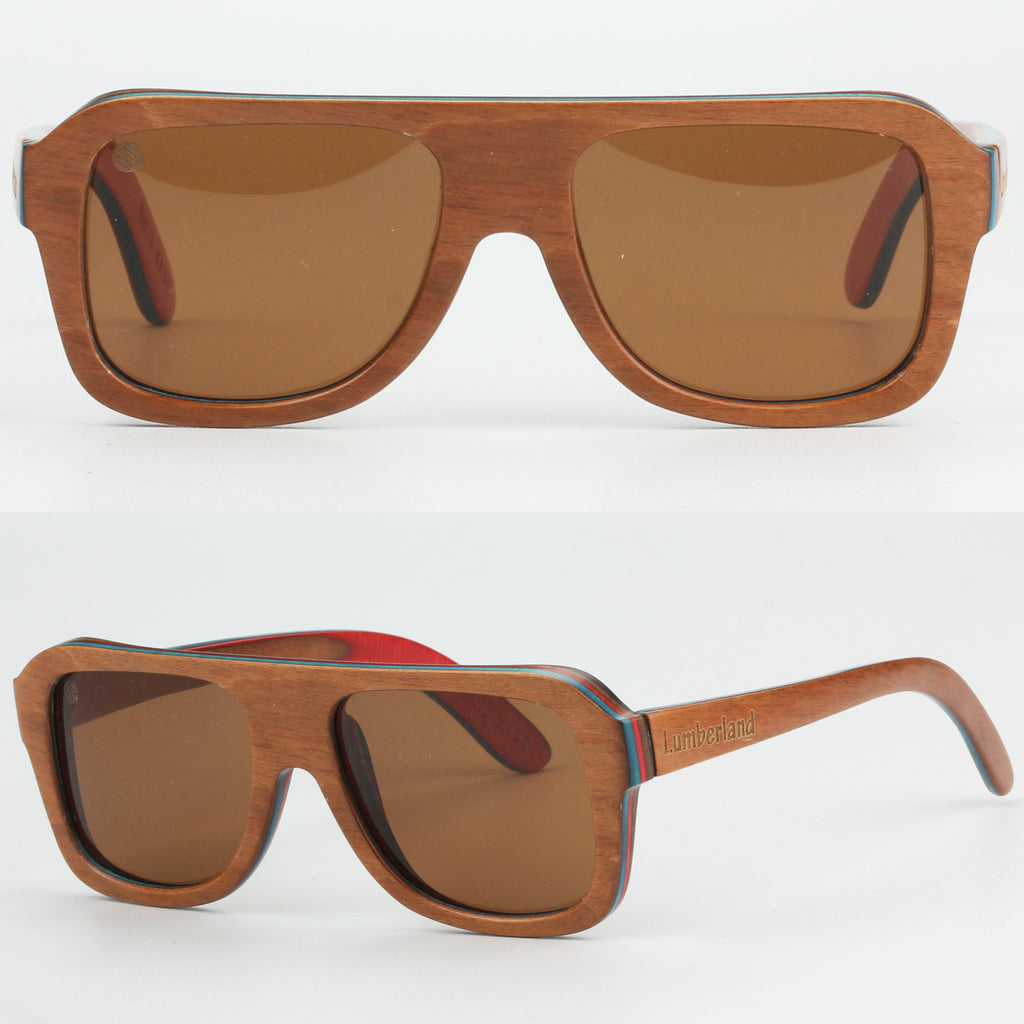 aa09054491 Skateboard Flat Top Polarized Lens Bamboo Wood Sunglasses – Lumberland