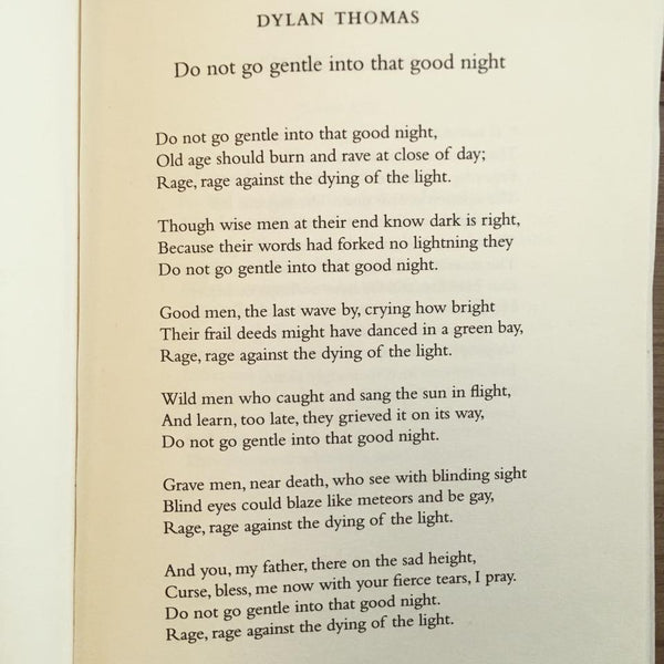 POEM A DAY: DYLAN THOMAS